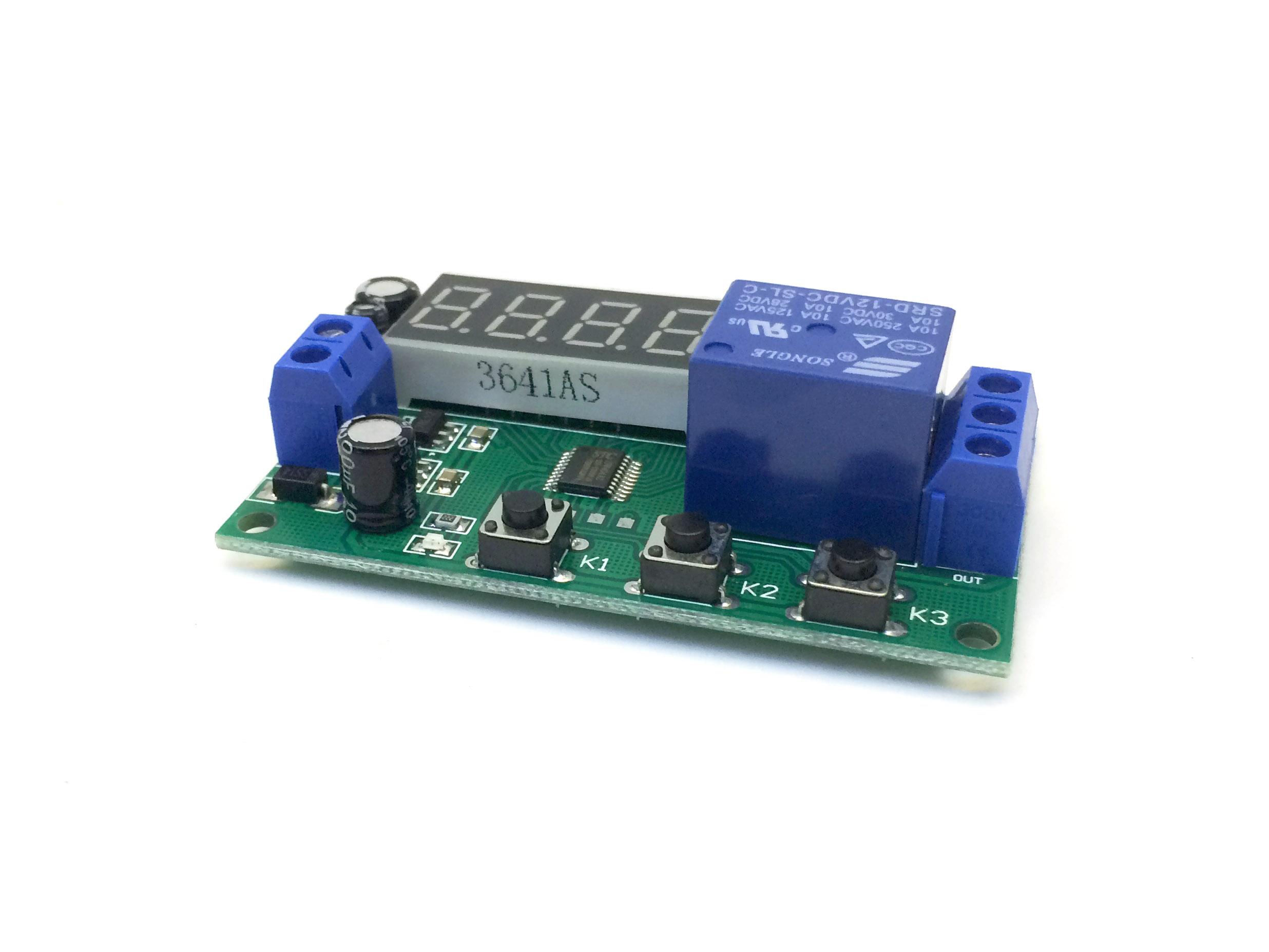 Module hẹn giờ bật tắt relay 12V 0.1s-9999 phút