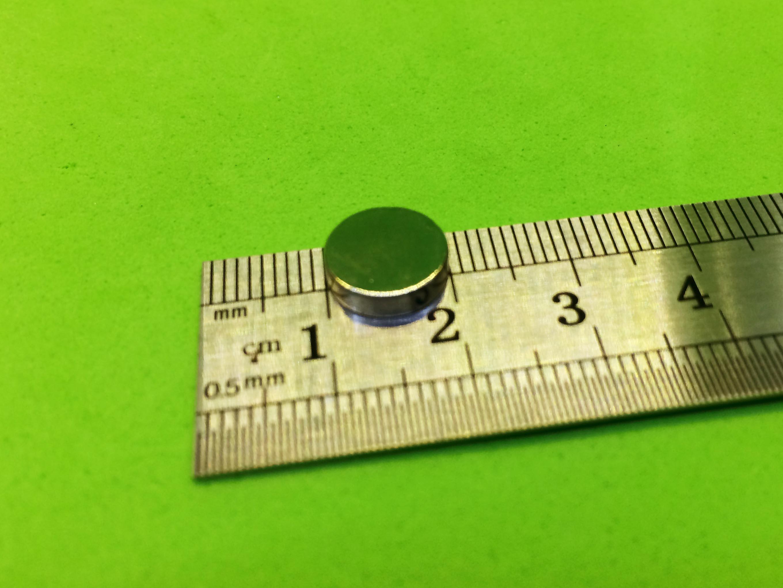 Nam châm đất hiếm thép trắng fi 10mm dày 3mm