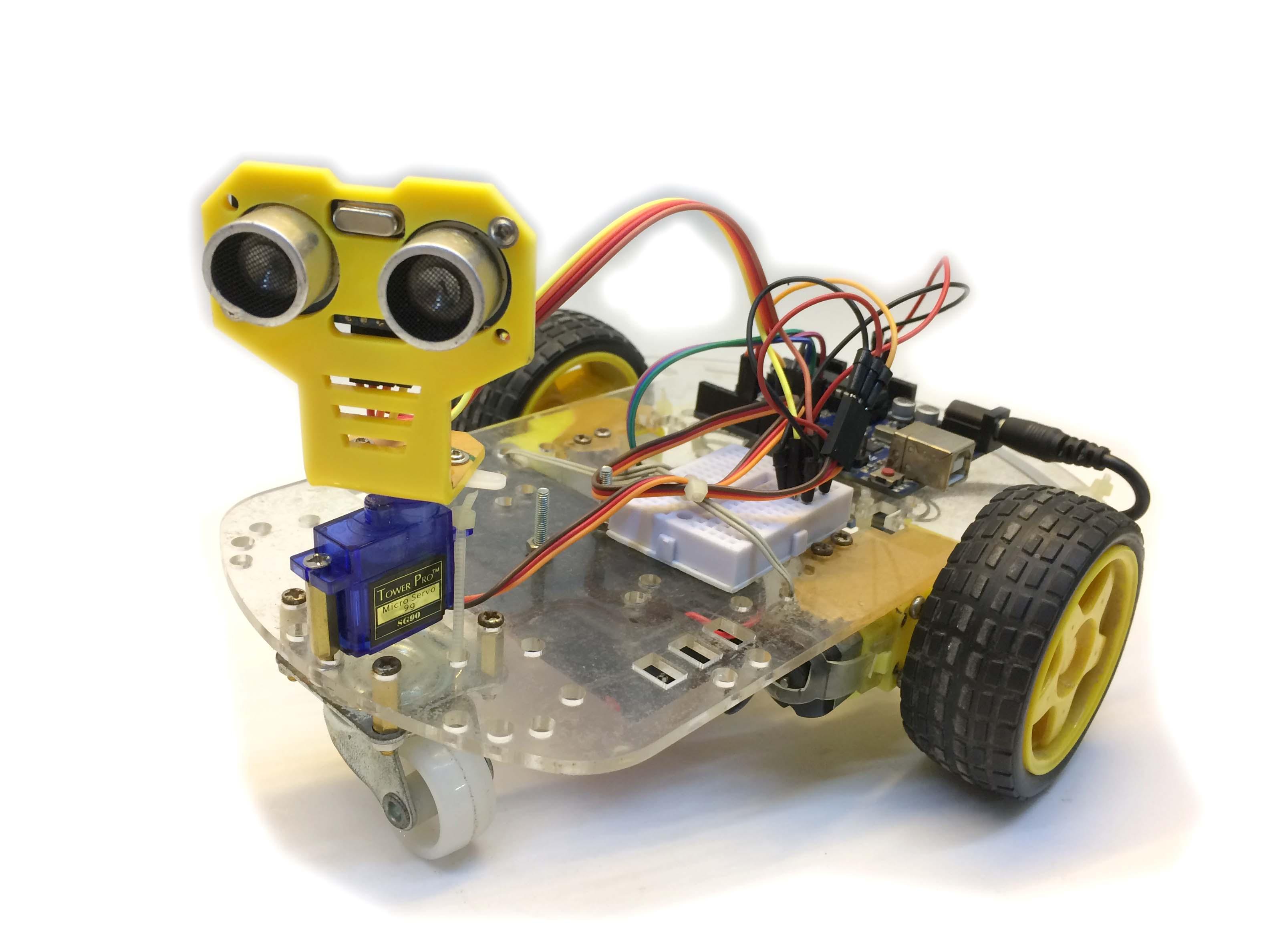Robot tránh vật cản Hồng ngoại HC-SR04