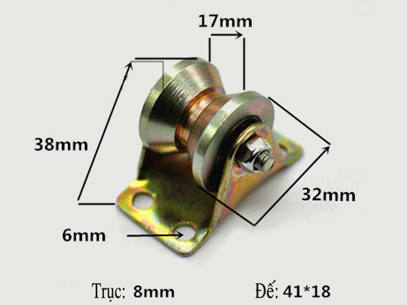 Ròng rọc bi 17x32mm có mã đếloại V