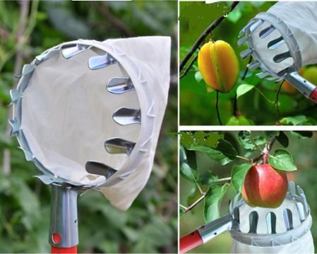Vợt hái trái cây trên cao đa năng kèm túi vải