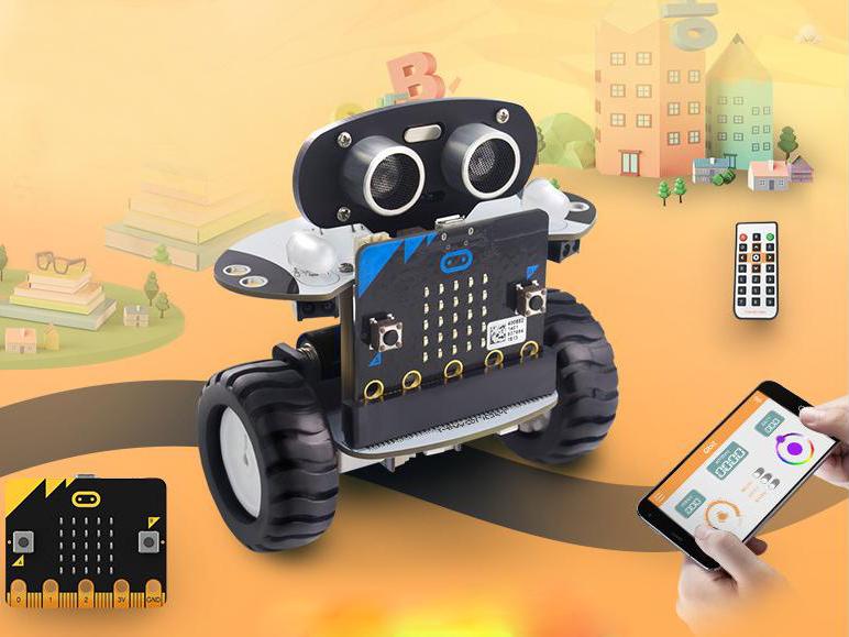 Xe Robot 2 Bánh Tự Cân Bằng Microbit