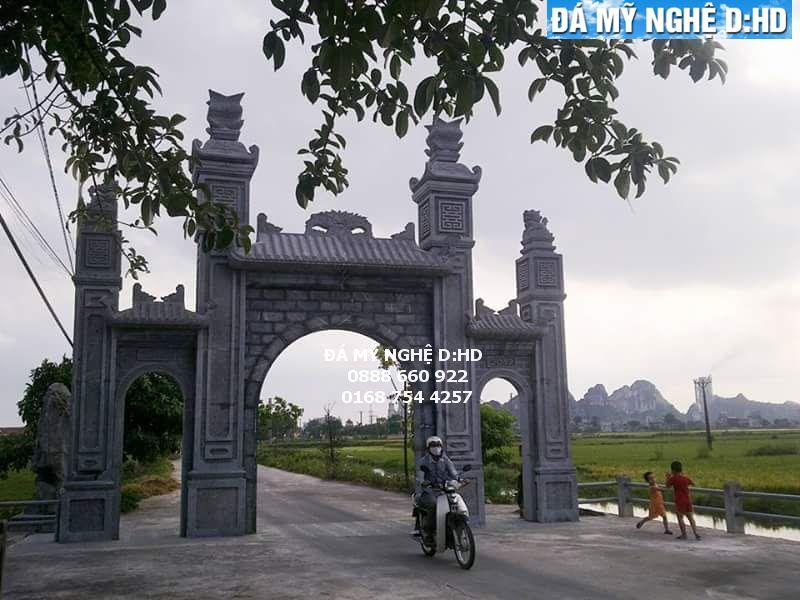 CD 09 - Cổng làng bằng đá khối tự nhiên