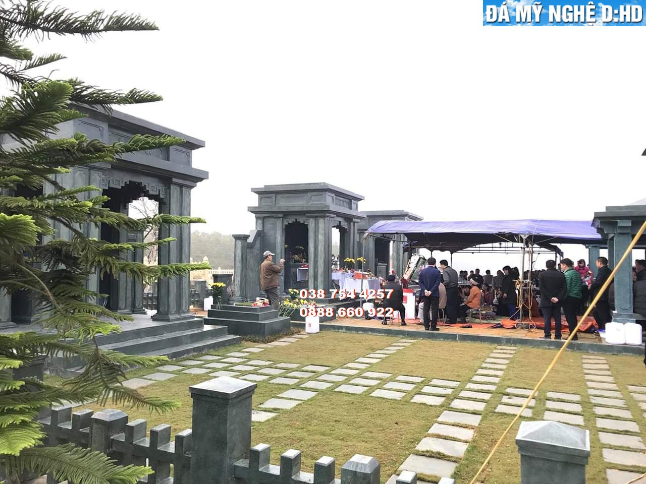 Khu lăng mộ đá cao cấp thiết kế hiện đại
