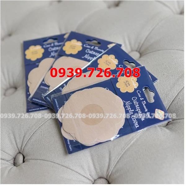 Combo 10 miếng dán ti giấy che nhũ hoa ngực dùng 1 lần (5 cặp)