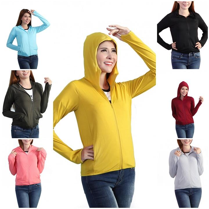 Áo khoác chống nắng công nghệ UV Cut thoáng khí khử mùi có mũ trùm đầu