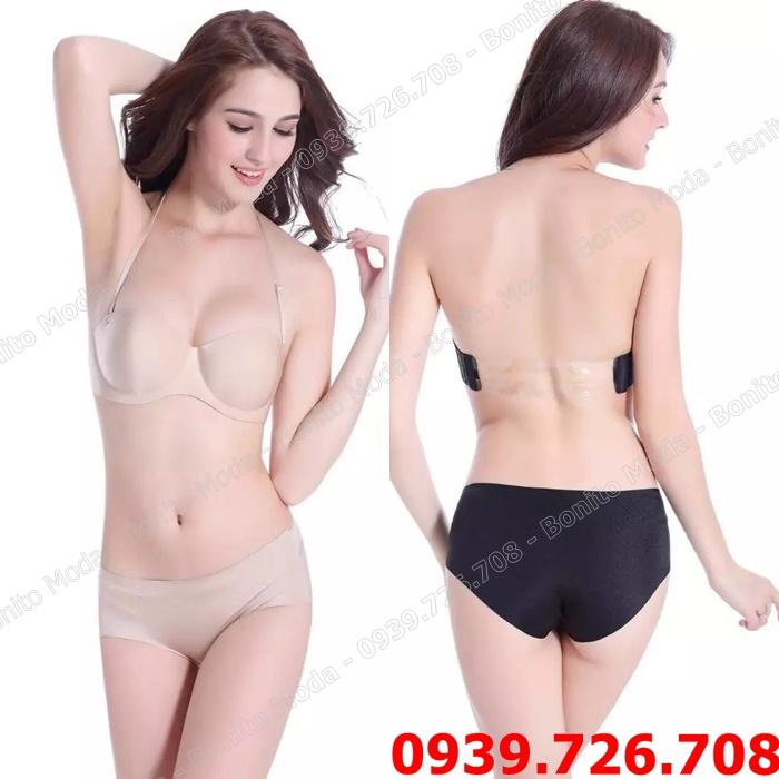 Áo ngực su dây lưng trong có choàng cổ