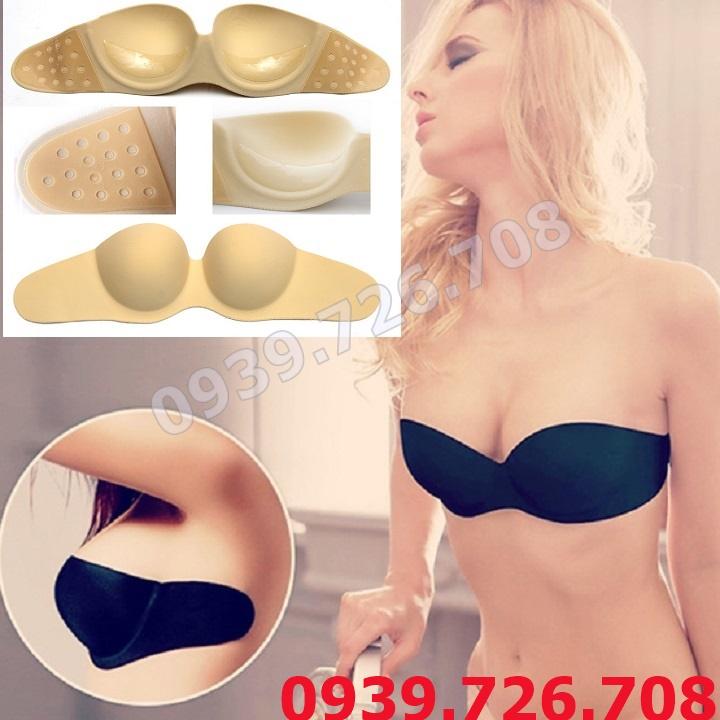Áo ngực su dán không dây cúp ngực cao cấp - mang váy đầm hở lưng hở vai, mang đầm cưới
