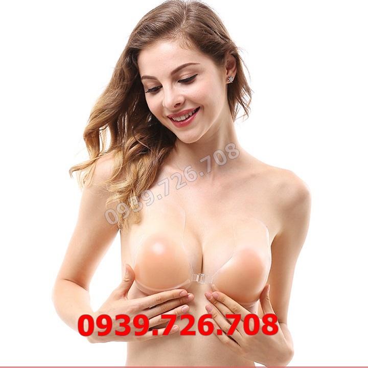 Áo dán ngực silicon thiết kế thêm miếng kéo ngực siêu tiện lợi gài nút