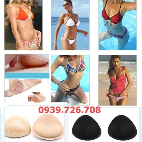 Miếng độn ngực hình tam giác chuyên dùng cho áo ngực bikini đồ bơi