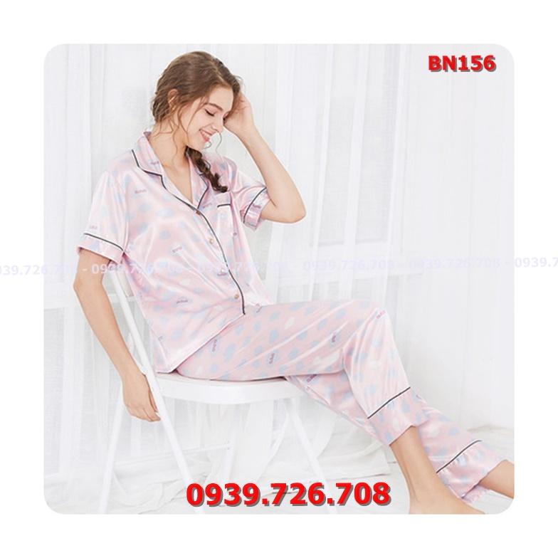 Bộ ngủ pijama nữ quần dài chất lụa cao cấp mịn mát