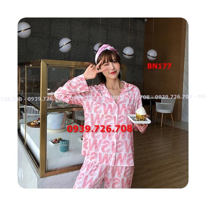 Bộ ngủ lụa satin pijama quần dài chất đẹp hàng cao cấp