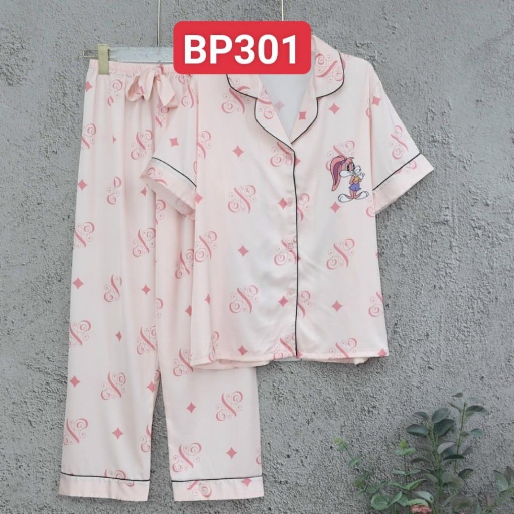 Đồ mặc nhà cao cấp- Bộ đồ ngủ pijama lụa cao cấp quần dài tay ngắn viền màu đẹp chuẩn chất mịn mát rượi hàng cao cấp
