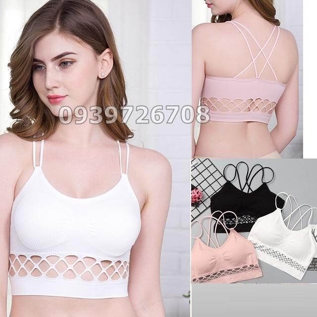 Áo lót bra cotton dây đan co giãn 4 chiều