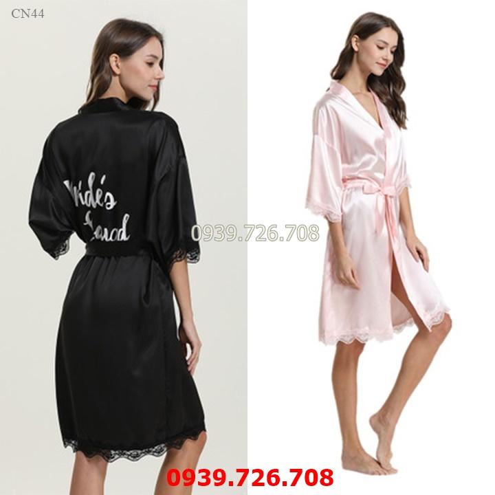 Áo choàng ngủ nữ - Áo khoác ngủ chất vải lụa mịn mát hàng cao cấp