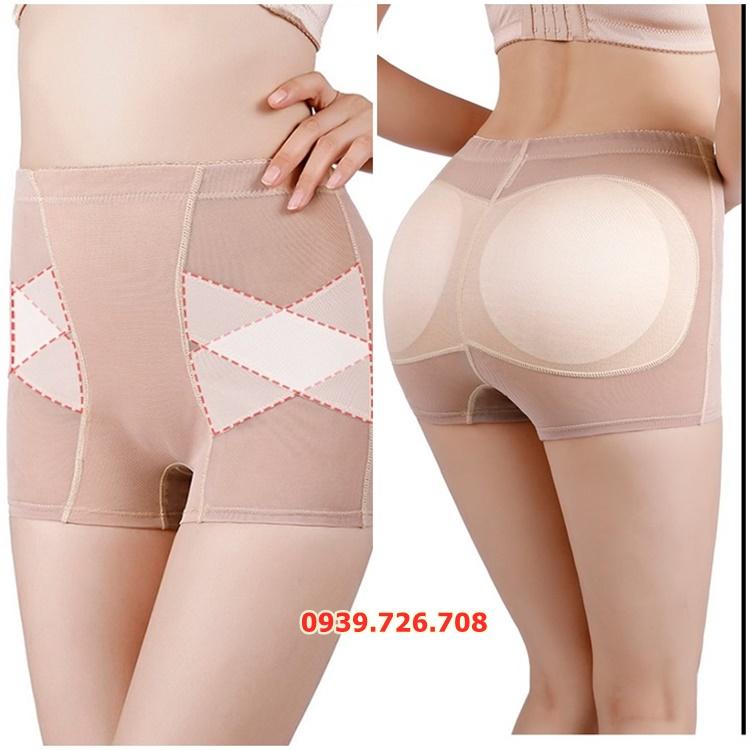 Quần độn mông boxer 2 trong 1 vừa độn mông vừa làm quần đùi mặc trong váy chất lưới thông thoáng
