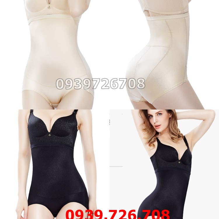 Quần gen nịt bụng tàng hình cao cấp - Quần gen bó bụng để mặc áo dài váy ôm đầm body - màu da và đen