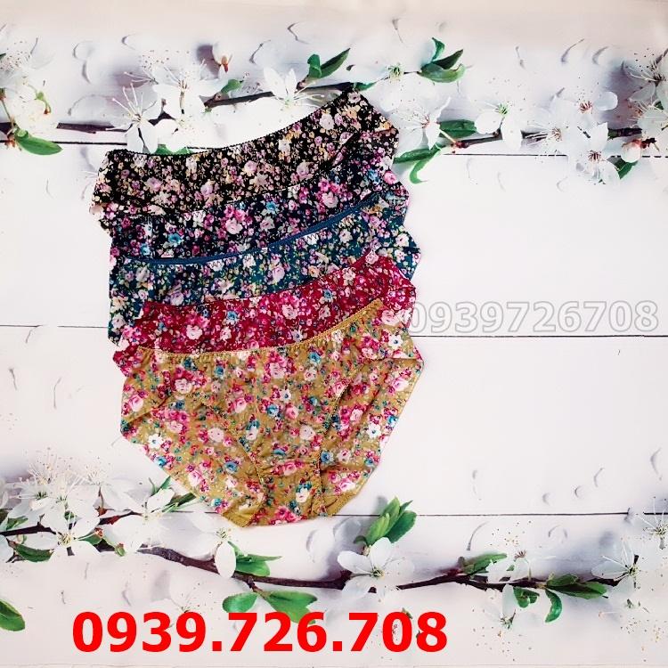 Quần lót hoa form vừa viền ko đường may