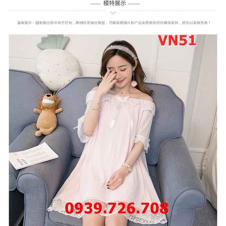 Đầm ngủ nữ công chúa ren lưới lót cotton dễ thương