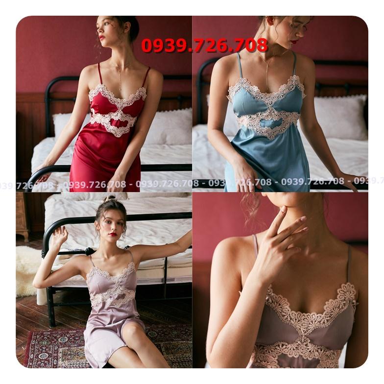 Đầm ngủ lụa ren viền ngực chất đẹp