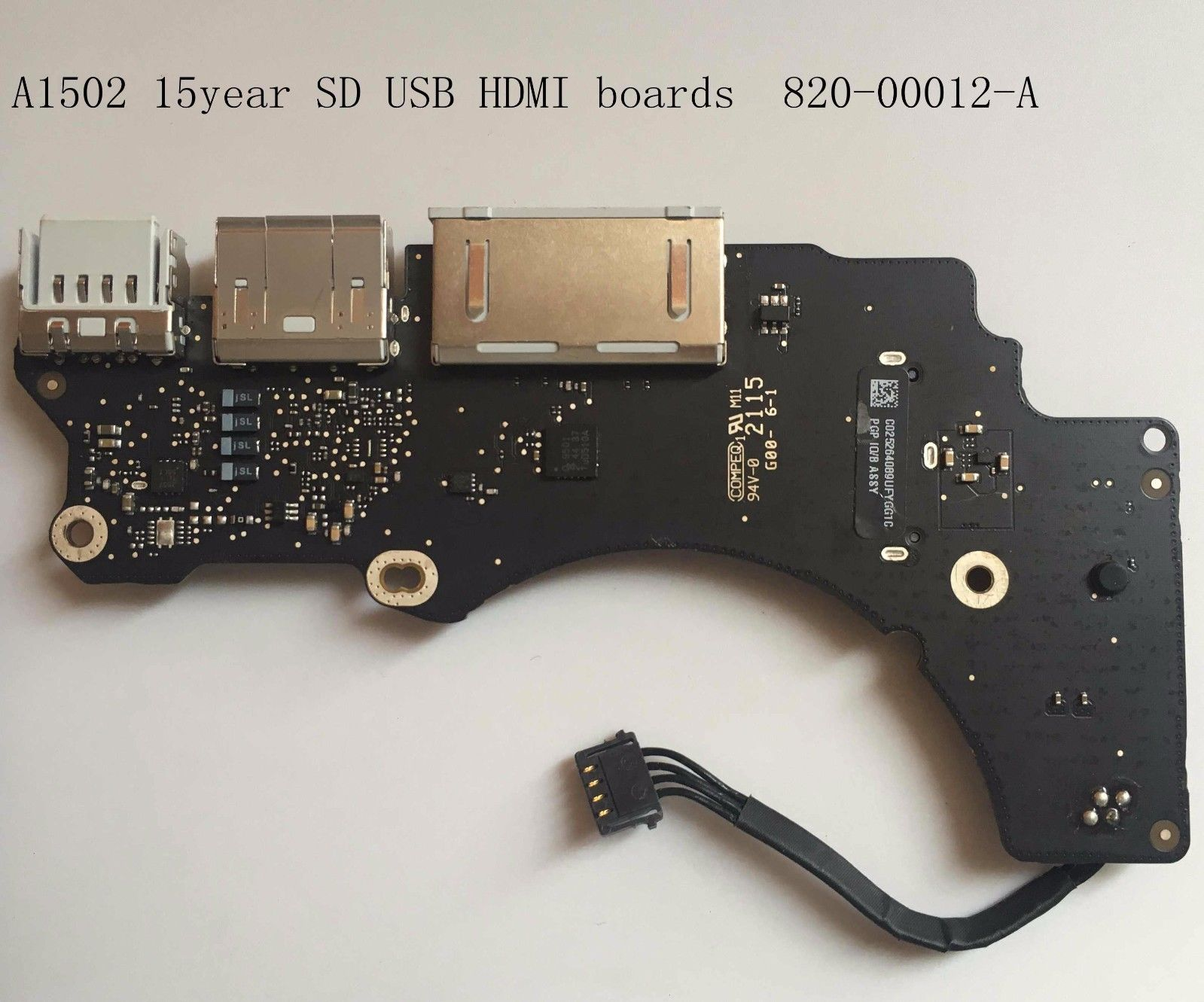 820-00012-A FOR MacBook Pro 13inch A1502 Early 2015 USB HDMI SDXC Board