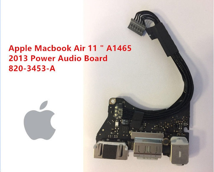 Bo nguồn macbook air 11inch A1465 2013 2014 2015 2016 dc power jack USB AUDIO BOARD 820-3453-A MD711 MD711B MF067LL-A MJVM2LL-A BTO-CTO
