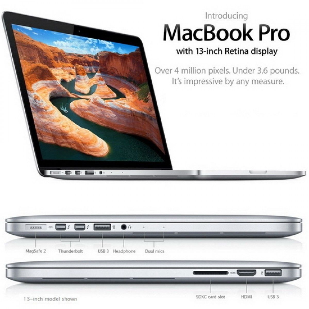 MACBOOK ME864LL-A 13.3inch A1502 2013