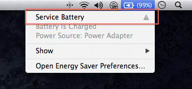 Service Battery Macbook