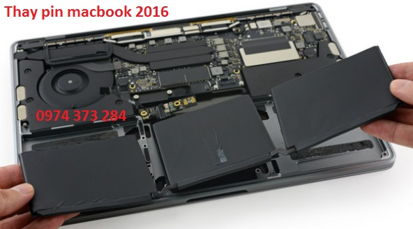 Thay pin macbook pro 2016 battery