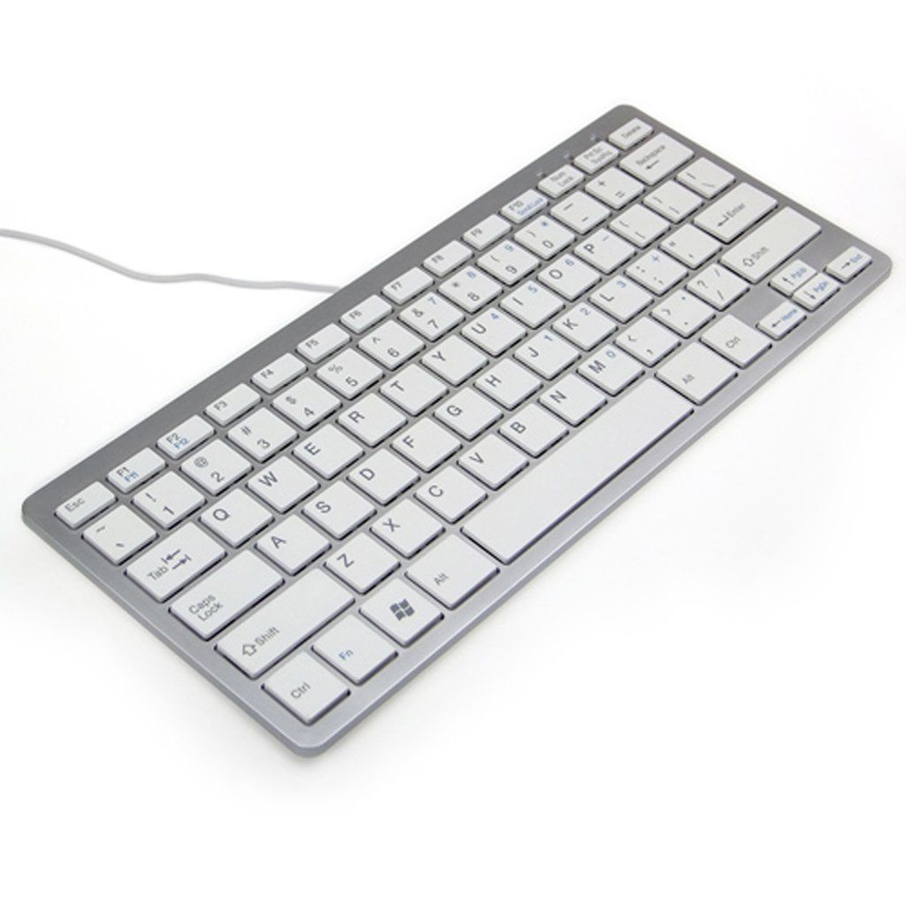 Key Super Thin Slim USB Wired Keyboard for Laptop iMac Macbook Window Win 7 8