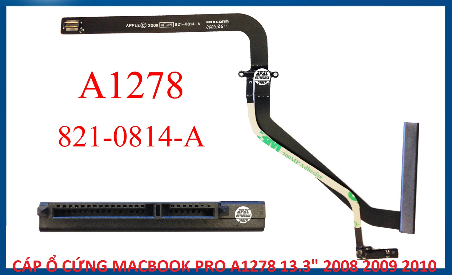 A1278 Hard Drive Cable 821-0814-A 2008 2009 2010
