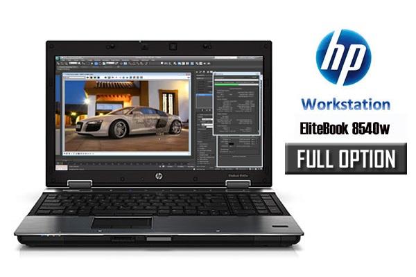 Laptop HP Elitebook 8540W cũ Core i7 620M, 4GB, 250GB, VGA 1GB NVidia Quadro FX 880M