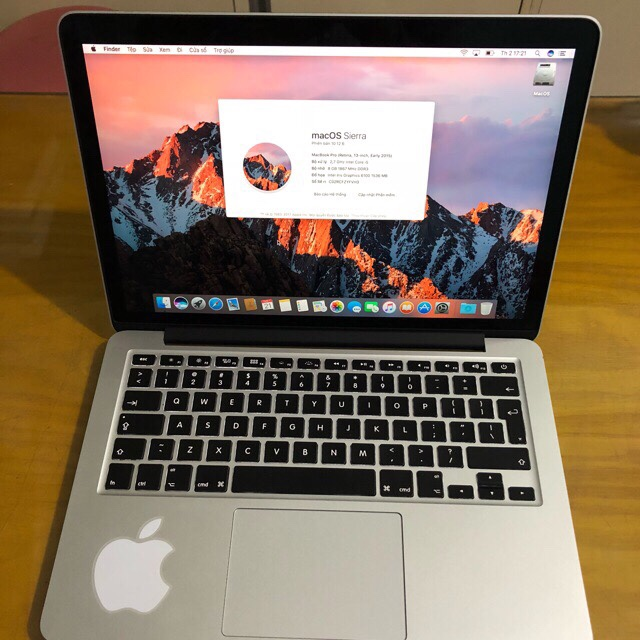 Macbook Pro Retina MF839 (13.3 Inch, Early 2015) Core I5 RAM 8GB SSD 128GB 99%