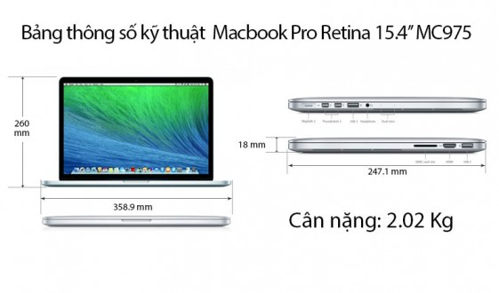 MC975 APPLE MACBOOK RETINA A1398