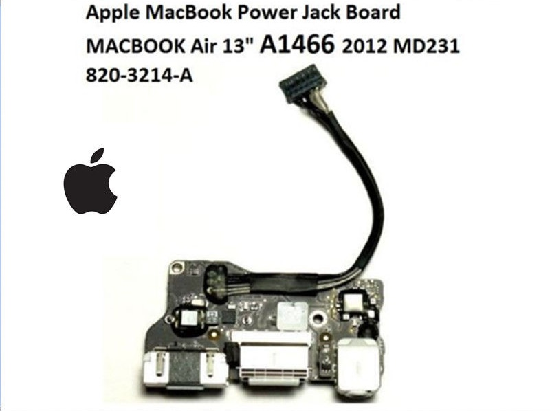 Thay bo nguồn rắc nguồn audio Macbook air A1466 board Power Audio Board USB DC Power jack 2012 MD628 MD231 MD846 820-3214-a