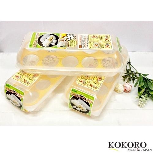Khay Đựng Trứng 10 Ngăn Có Nắp Đậy Nhật Bản