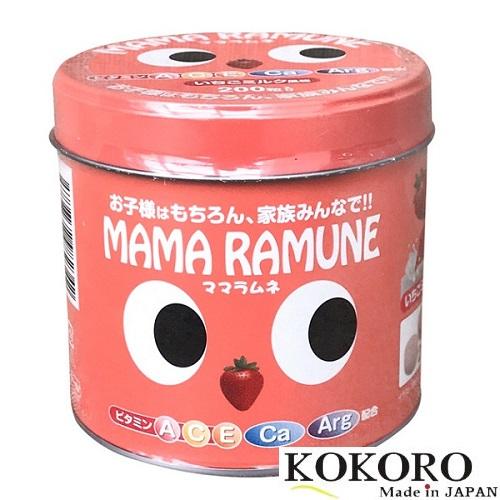 Kẹo Vị Dâu Cho Trẻ Biến Ăn Mama Ramune 200 Viên