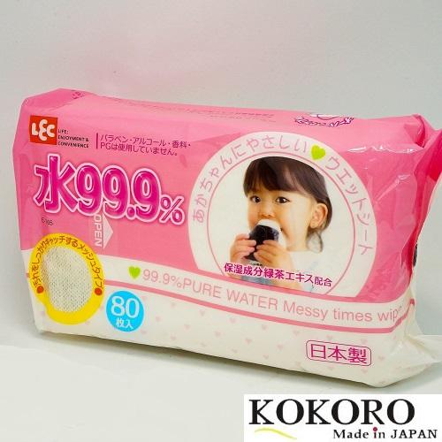Khăn Ướt 99.9% 80 Sheets LEC Nhật Bản
