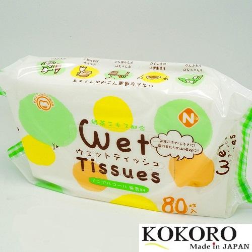 Khăn Ướt Wet Tissues 80 Sheets Nhật Bản