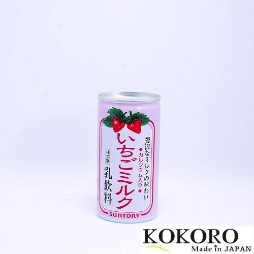 Sữa Bò Lon SunTory Hương Dâu Nhật Bản