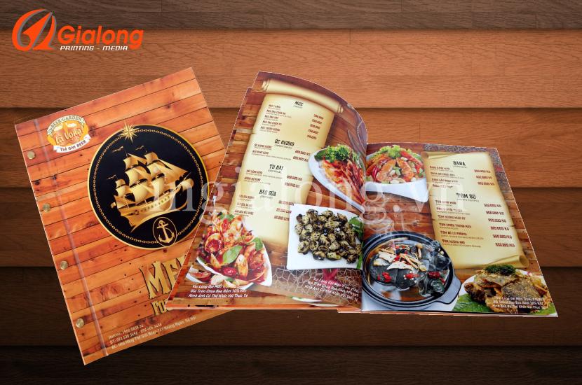 In menu, thực đơn