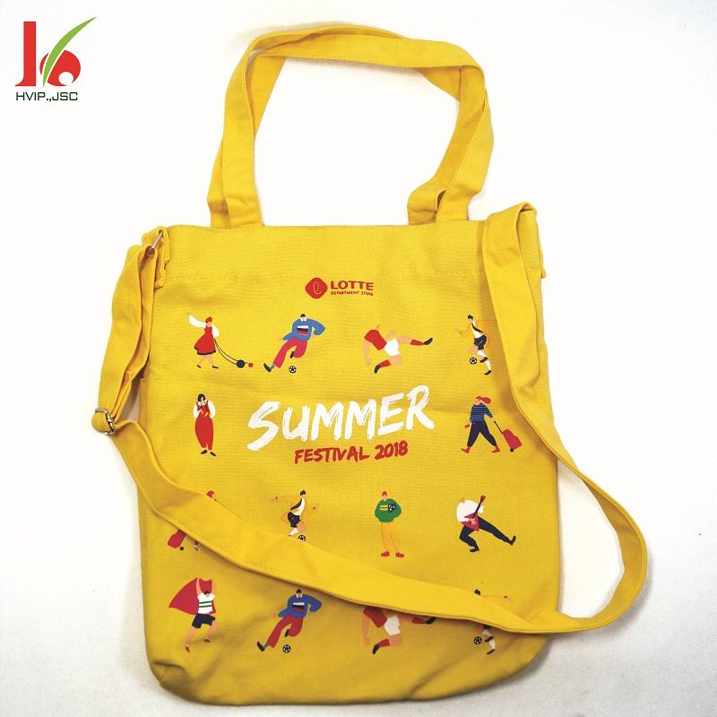 Túi vải bố thời trang Lotte