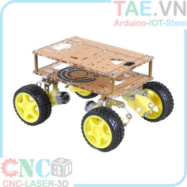 Khung xe mica smart robot 4WD