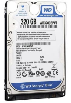 HDD Laptop Western Digital 320GB