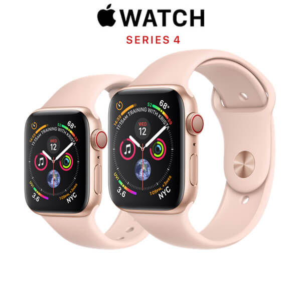 Apple Watch Series 4 (GPS + CELLULAR) Gold Aluminum Case with Pink Sand Sport Band