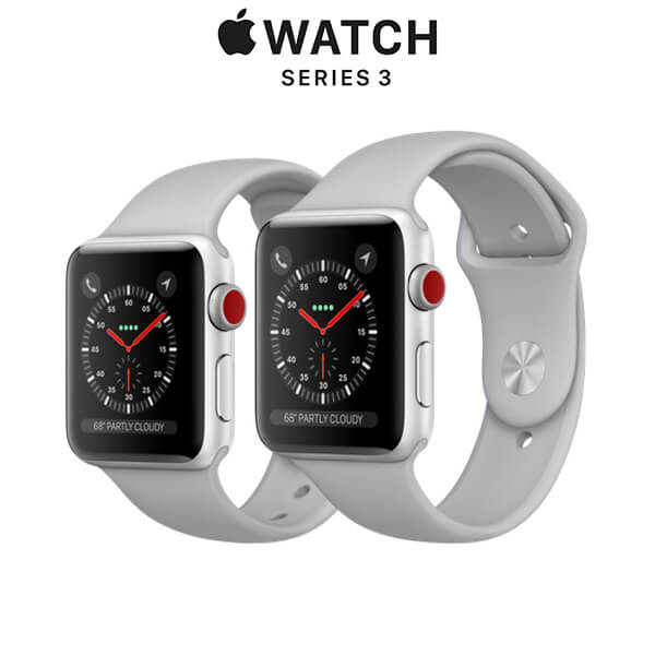 Apple Watch Series 3 (GPS + CELLULAR) Silver Aluminum - Fog Sport Band