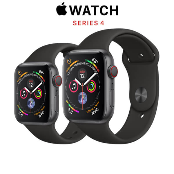 Apple Watch Series 4 (GPS + CELLULAR) Space Gray Aluminum Case with Black Sport Band