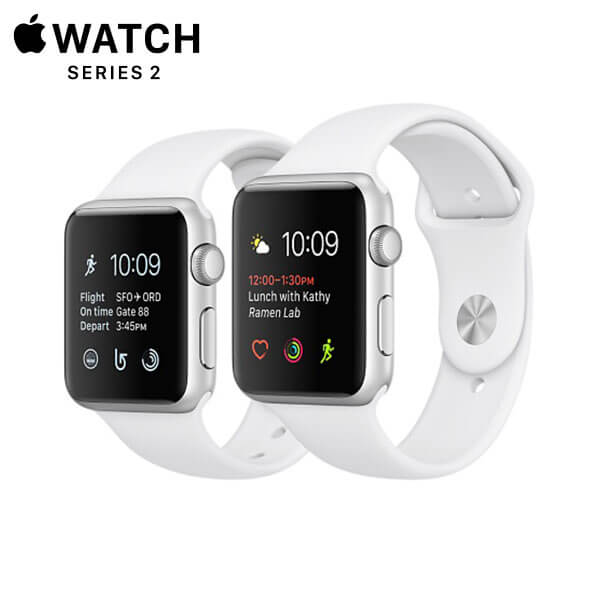 Apple Watch Sport Series 2 Silver Aluminum, White
