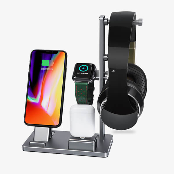 Dock sạc 6in1 Cho Apple Wach | iPhone | AirPods | Headphone