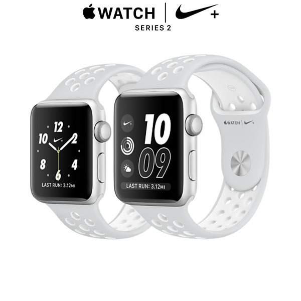 Apple Watch Nike+ Series 2 - Silver, Pure Platinum/White